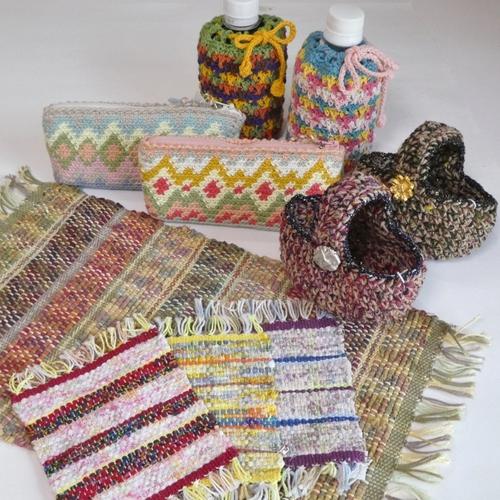 手織りマット・手編み小物