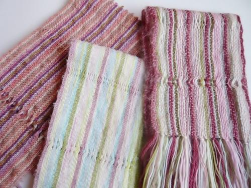 手織りマフラー