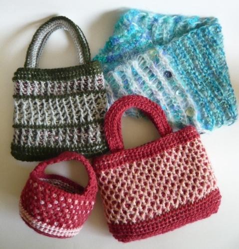 アフガン編みの練習